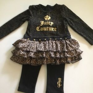 GIRLS 12 MONTHS JUICY COUTURE 2 PIECE OUTFIT